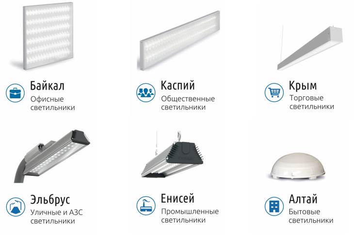 светодиодные светильники хабаровск